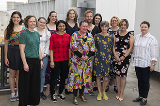 Carly Findlay OAM with members of the Institute's Gender Equity Committee