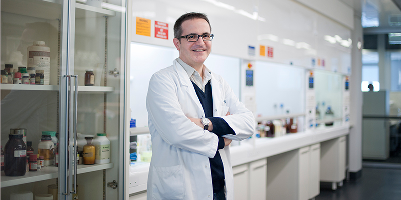 Associate Professor Guillaume Lessene in a laboratory
