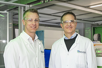Researchers in the laboratory
