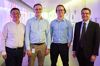 Associate Professor Peter Czabotar, Professor David Huang, Professor Guillaume Lessene and Professor Andrew Roberts